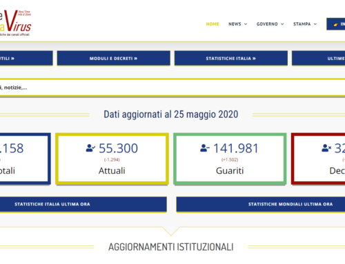 Statistiche Italia Coronavirus Real Time